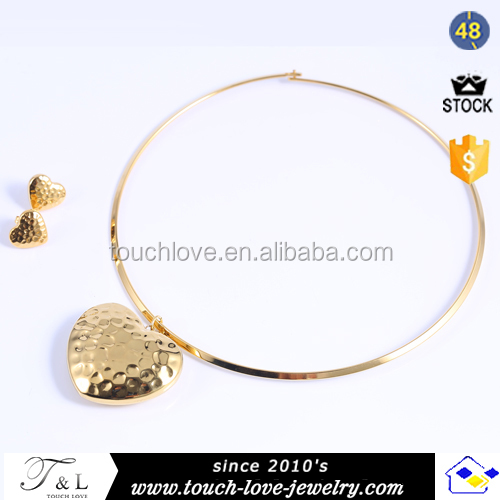 gold plated stainless steel jewelry wholesale gold heart pendant african jewelry sets gold jewellery dubai