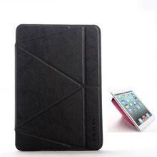 New totu design dynamic folding stand leather case for ipad mini 2014