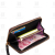 LLH leather wallet digital printing zipper wallet lady clutch wallet