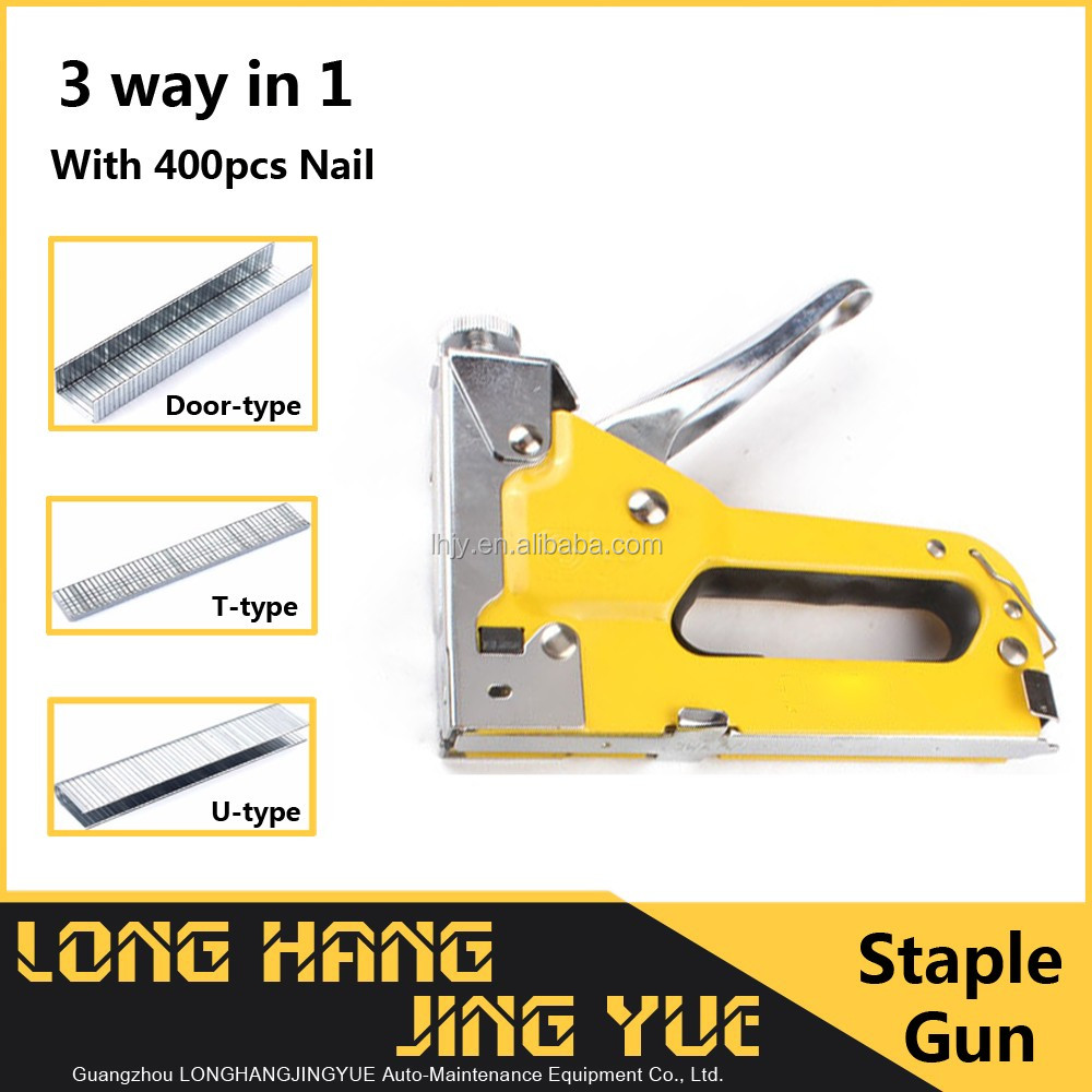100pcs capacity hog ring gun for sale / 3 type industrial stapler / 4-14mm box stapler