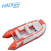 12.5ft 3.8m aluminum floor pvc inflatable jet boat