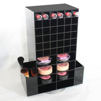 New Product 2017 Custom Acrylic mac Lipstick Storage/Acrylic Make Up Cosmetic Display Stand/Rotating Lipstick Acrylic Organizer