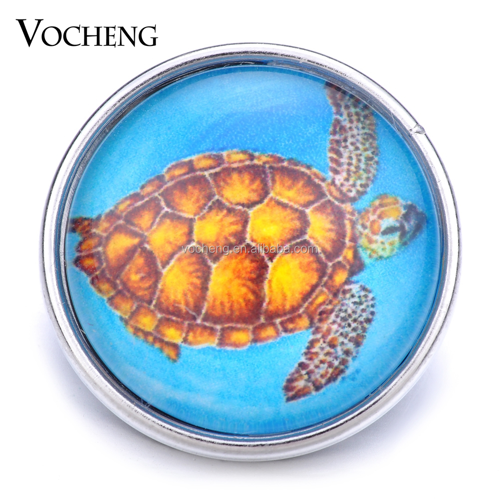20PCS/Lot Wholesale Vocheng 18mm Glass Button Turtle Ginger Snap <strong>Jewelry</strong> Vn-1214*20 Free Shipping