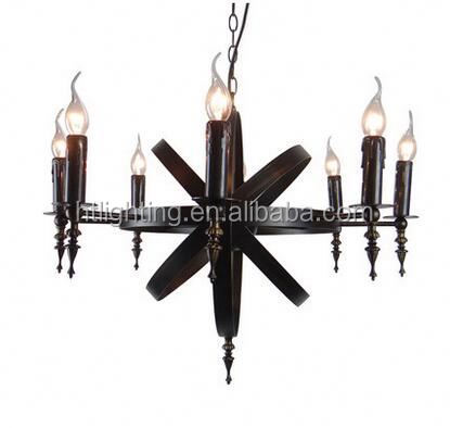 Rustic style classical Industrial Chandelier light Loft Round Candle vintage Chandelier for Living Room