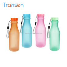 2017 hot selling plastic beverage drinking water bottles BPA Free transparent portable soda shape plastic water bottle