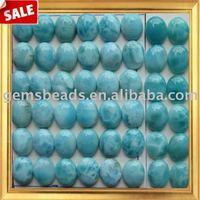 AAA natural gemstone larimar cabochon beads