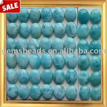 AAA natural gemstone larimar cabochon beads
