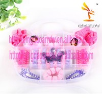 Cute candy color princess hair bands kids hair accessories set