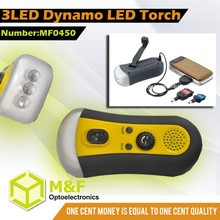 wind up solar dynamo flashlight lantern light with FM radio band