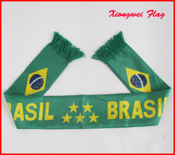 Flag printed World Cup Fans Football Scarf