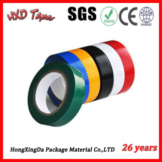 PVC eletrical insulation tape with 150micx19mmx10yards