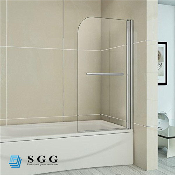 High quality 10mm thick tempered decorative glass shower wall panels