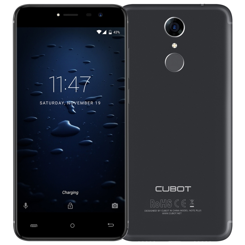 wholesale CUBOT Note Plus 3GB 5.2 inch Android 7.0 MTK6737T <strong>Quad</strong>-Core Fingerprint Identification smartphone