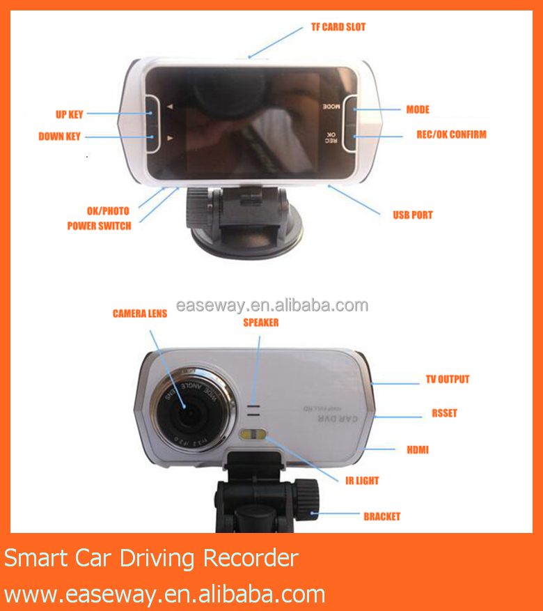 K3000 hidden camera for car <strong>r</strong> , h.264 noight vision dashboard camera night vision 2.5 inch <strong>1080P</strong> car driving recorder
