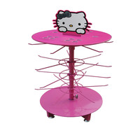 hello kitty revolving wire countertop display rack for makeup cosmetic HSX-P-181