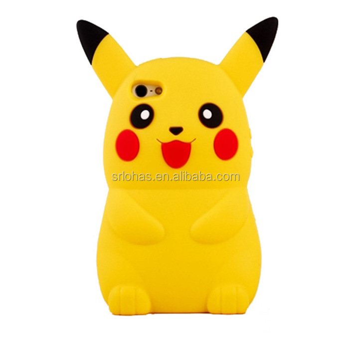 Hot slling wholesale Pikachu 3d silicone phone case