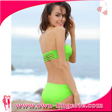 High Quality Tankini Swimsuits Vintage Cut out Two Piece Solid Bikini Set pin up swimwear