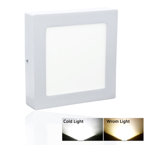 12w Dimmable Surface Mounted Beauty Square Led Ceiling Light Ultra Thin Bright Led Panel Light