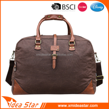 Canvas brown high quality hot sale waxed canvas duffle bag
