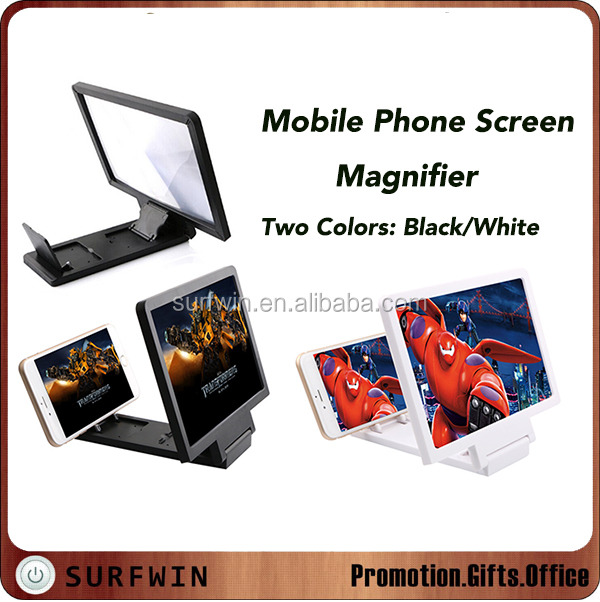 Foldable mobile phone screen magnifier bracket,mobile phone screen magnifier Enlarge stand Cellphone Magnifier
