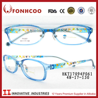 FONHCOO China Franchise Children Lovely Decorative Pale Blue Printer Eyeglass
