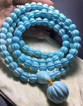 108 pumpkin Buddha beads make highest quality turquoise necklace jewellery