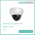 Water/Vandal-proof 4MP HD WDR IR Smart IP Dome Network Camera with Audio/Alarm