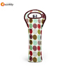 Insulated Neoprene Wine Bottle Tote Carry Bag