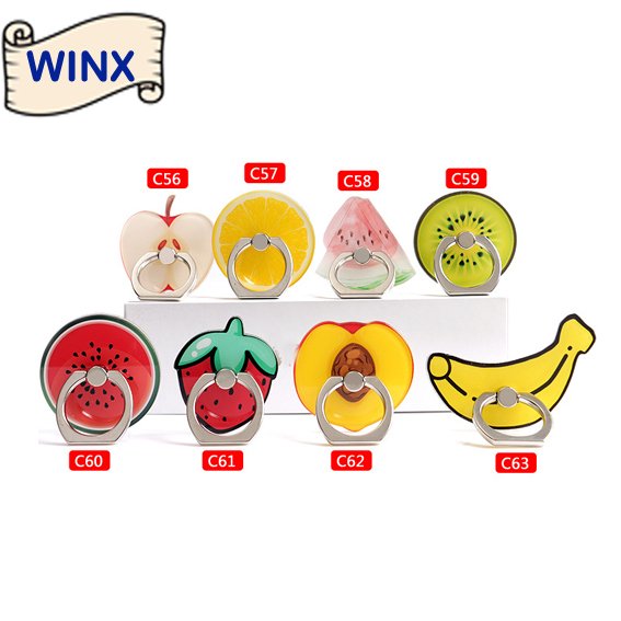 WINX mobile phone holder creative personality refers to the ring buckle phone stent cartoon fruit lazy cute holder