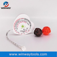BMI heart_shaped gift tape measure with logo customized/ Boby measuring tape tailor