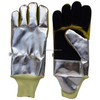 Split Leather Fire Fighting Gloves Aluminized