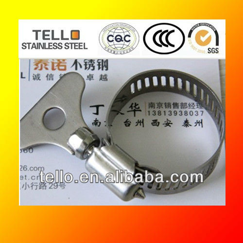 thumb handle steel handle hose clamp /worm hose clamp / clips