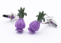 Wholesale High Qaulity Hot Sale French Purple Vase Cufflinks for Men in Plating