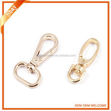 Metal dog leash swivel snap hook spring bag buckle for bag accessory