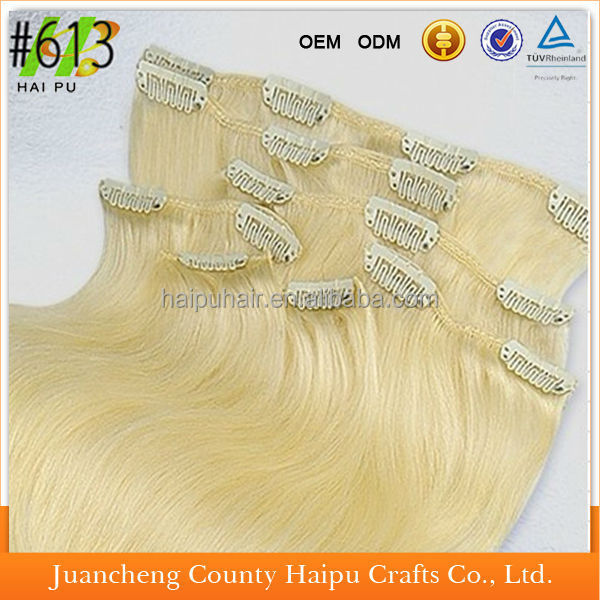 Wholesale Price Inidan HumanHair Weave Clip In Remy Hair Extension For Black Women