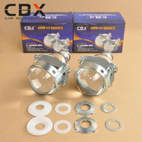 CBX 3.0 H1 Xenon Bulb HID Bi-xenon Projector Lens LEADER Universal for Auto Headlamp for H4 H7 Headlamp Shiny Silver Type