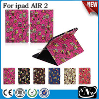 Cute Owl Bird Stand Flip Leather Case for iPad Air 2