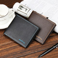 2016 New Fashion Solid Leather Men Wallets Simple Style Purse With Card Holders Money bag for male