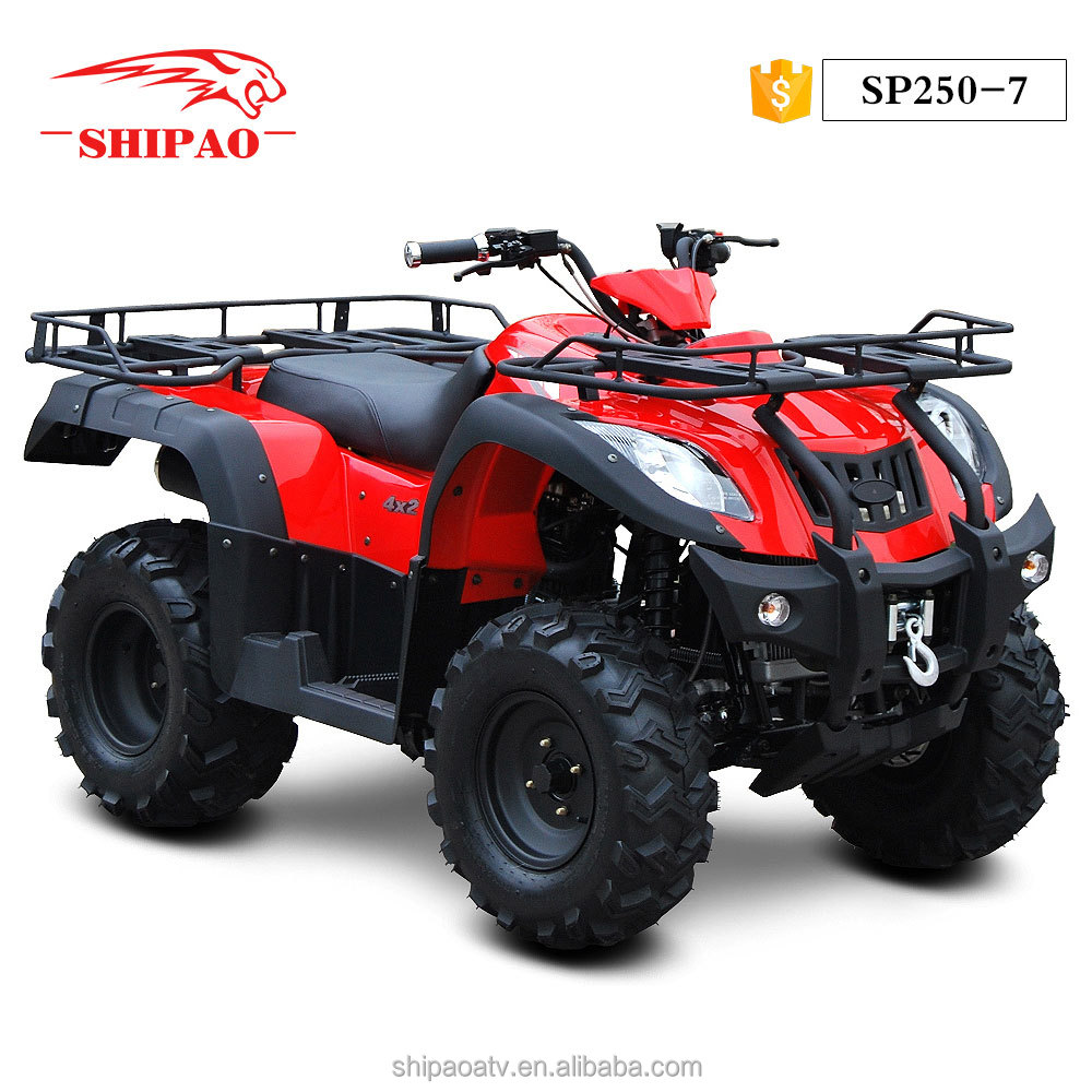 SP250-7 Red color 250cc quad bike atv