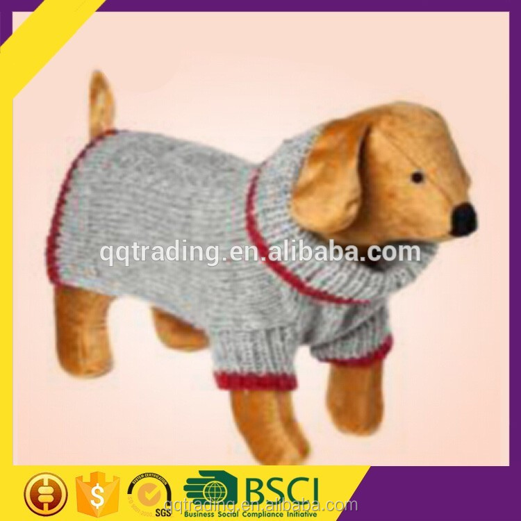 Hand knitted high neck custom lovable dogs small xl dog clothing