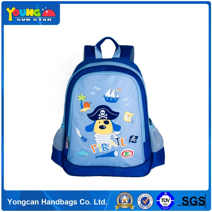 lovely girl picture cartoon printed school bags for kids