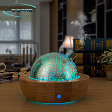SOICARE 3d fireworks glass ultrasonic humidifier aroma diffuser