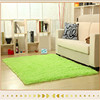 100 polyester decotative washable green carpet