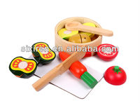 wooden cutting vegetable toys/different kinds of vegetables