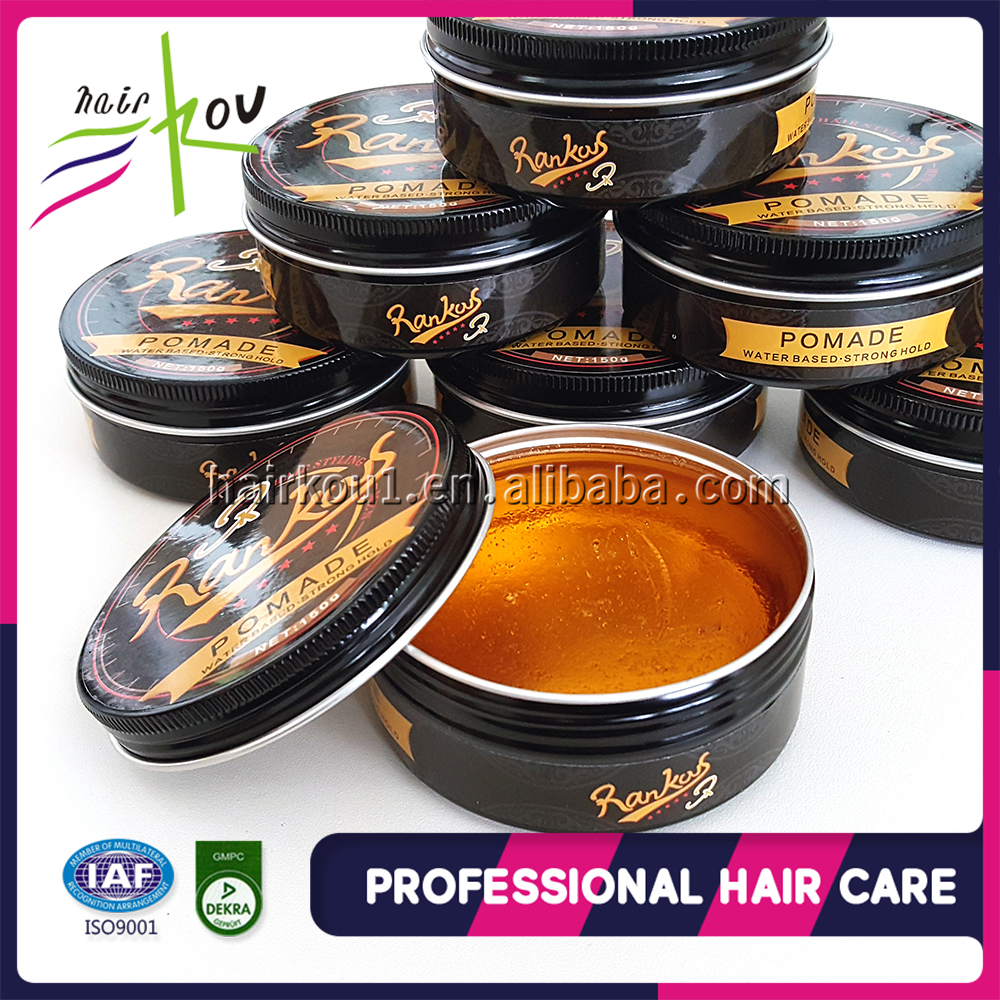 Customized logo wax form water based strong hold hair pomade for hair styling