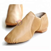 S5217 jazz dance shoes wholesale soft neoprene pigskin slip-on leather dance teacher jazz shoes