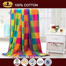 100 cotton new design customized ab yarn jacquard checked beach towel
