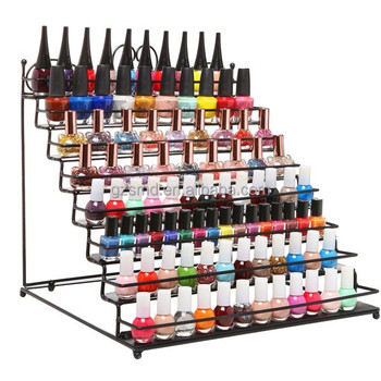 Wholesale Table Top 8 Tiers Metal Nail Polish Display Stand
