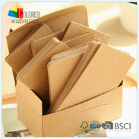 Kraft Paper Tag for Gift Mini Greeting Card Blank Card