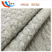 knitting polyester cotton quilted jacquard fabric